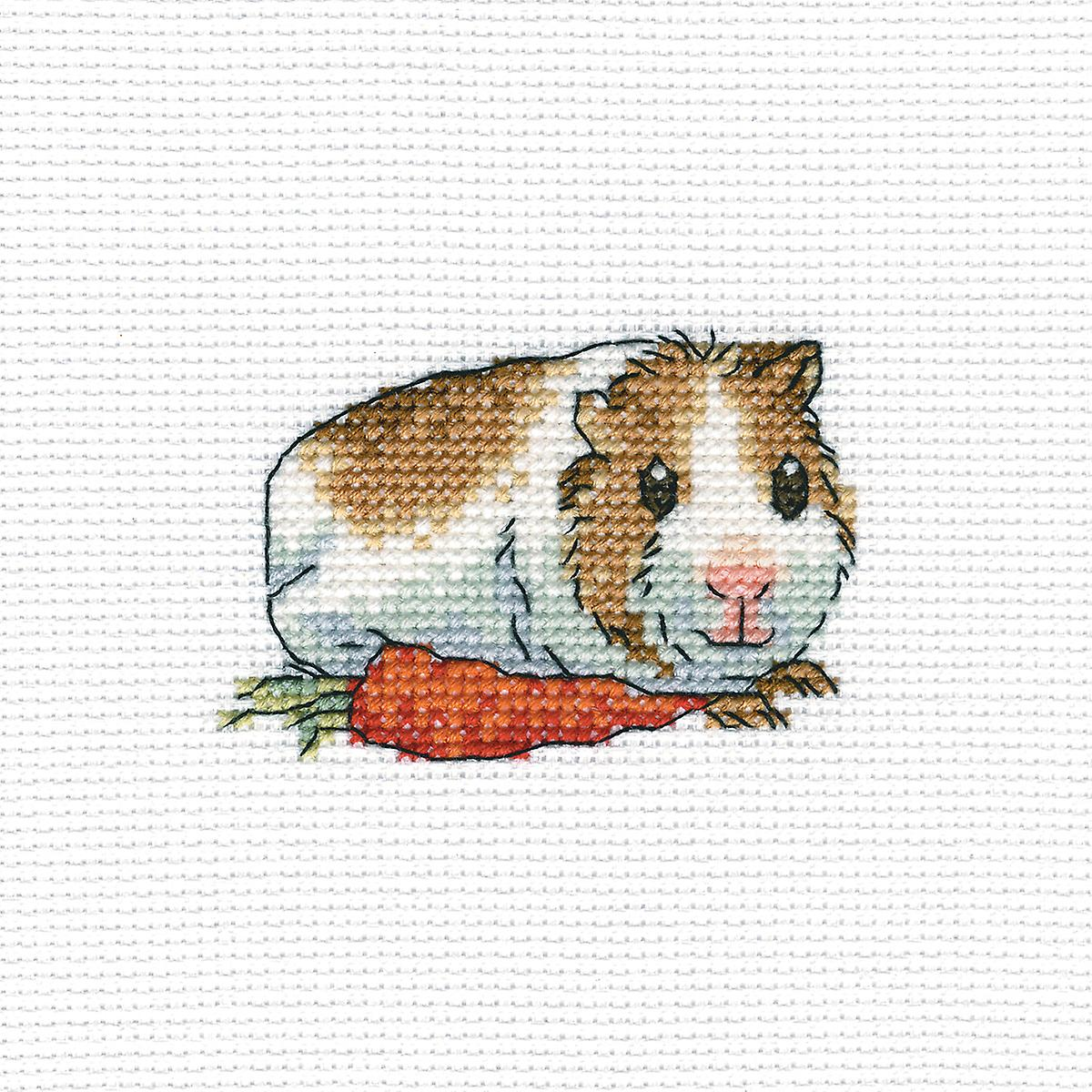 Cavy With Carrot Counted Cross Stitch Kit-4