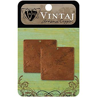 Vintaj Metal Altered Blanks 2 Pkg Large Square 20.5Mm Chw0003r