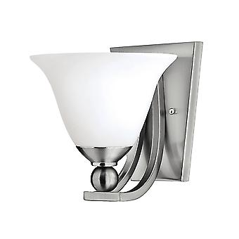 Bolla Modern Wall Light with Cast Ball Detail Etched Opal Glass Shades