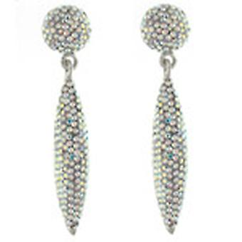 Butler and Wilson AB Crystal Pave Cone Drop Earrings