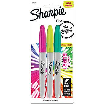 Color Burst Permanent Markers Fine 3/Pkg-Assorted 1948379