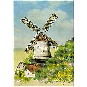 Windmühle gezählt Cross Stitch Kit-8,25