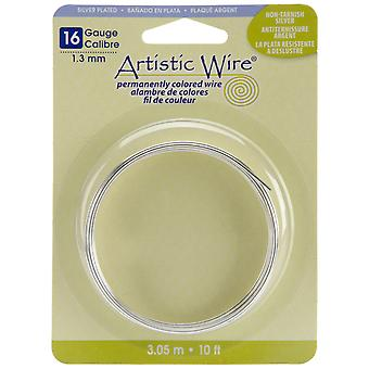 Artistic Wire-Non-Tarnish Silver - 16 Gauge, 10' AWB-16S