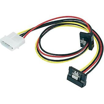 Current Y adapter [1x IDE power plug 4-pin - 2x SATA power socket] 0.46 m Black, Red, Yellow renkforce