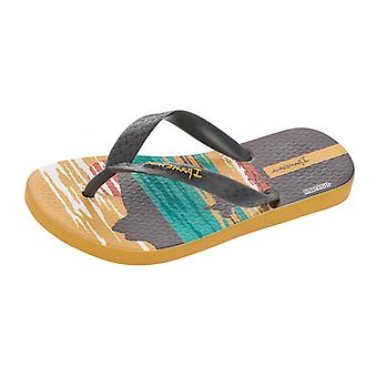 Ipanema Surfer Kids Flip Flops / Sandals - Grey Yellow