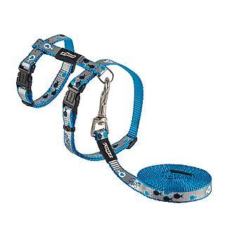 Rogz Catz Reflectocat Lead & Harness Small Blue