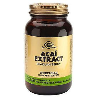 Solgar Acai Extract of Berry Brazil 60Pearls (Vitamines en Suplementen , Multinutrients)