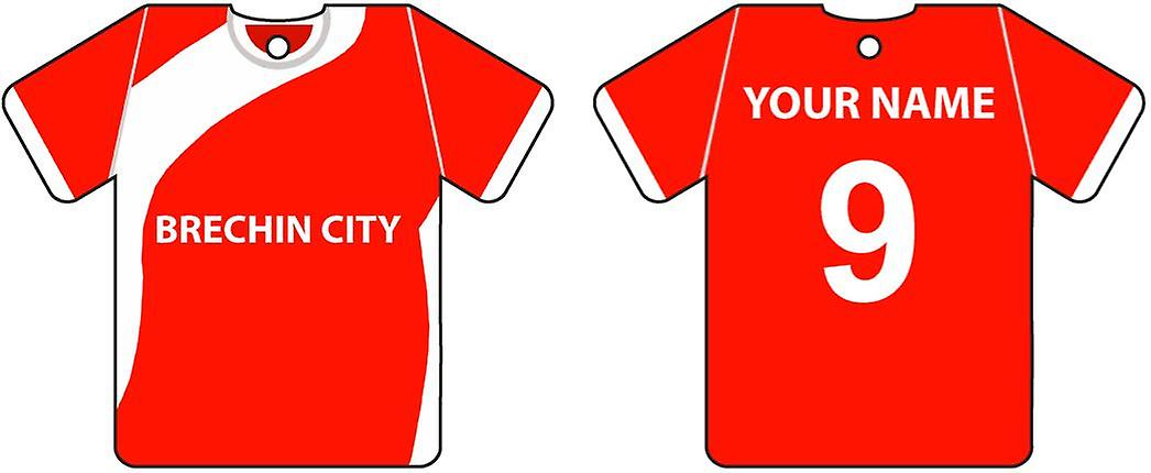 Gepersonaliseerde Brechin City Football Shirt auto luchtverfrisser