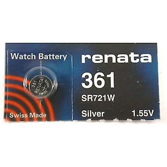 Renata Watch Battery 361 - Pack of 10 (SR721W)