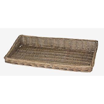 Antique Wash Display Wicker Tray