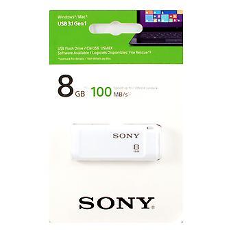 5R1/I1: Sony 8GB MicroVault X Series - Fast USB 3.1 Flash Drive in White. - USM8GXW