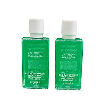 Hermes Jardin Sur Le Nil Perfumed Shower Gel 40 Ml set of 2