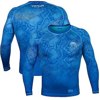 Venum Fusion lange compressie T-Shirt van de koker-blauw