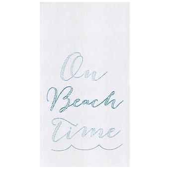 समुद्र तट पर समय आटा बोरी रसोई तौलिया कपास 27 इंच
