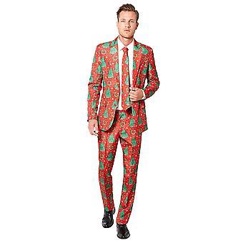 Red Christmas Suit Size S Men's Carnival JGA Chiristmas Tannebaum OB0008