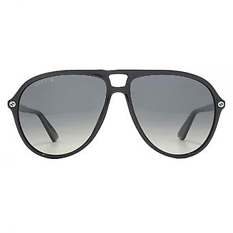 Gucci Classic Pilot Sunglasses In Black Polarised