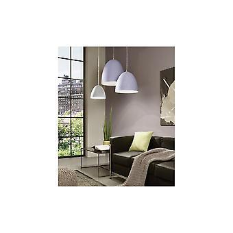 Eglo Pratella 1 Light Pendant Grey Ceramic