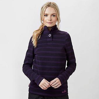 New Peter Storm Women's Sandra Stripe Fleece Purple