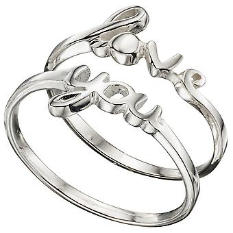 925 Silver Love You Ring