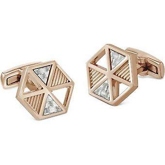 Duncan Walton Gavel Luxury Rose Gold Plated Cufflinks - Rose Gold