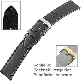 Watch band watch strap for watches black leather ladies 18 mm