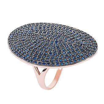 St Tropez Ring Rosegold Sapphire CZ