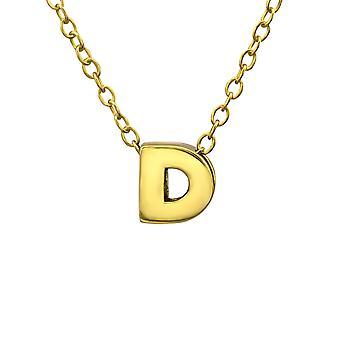 «D» - 925 стерлингового серебра Обычная ожерелья - W24060X