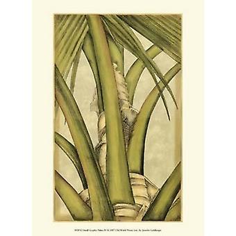 Small Graphic Palms IV Poster Print by Jennifer Goldberger (10 x 13)