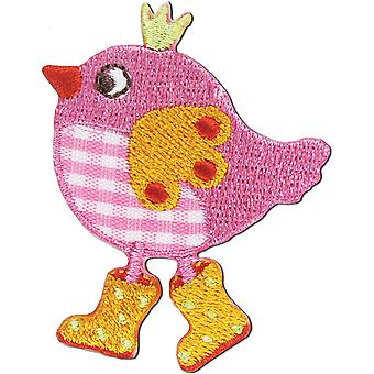 Iron On Appliques Pink Bird A001300 266