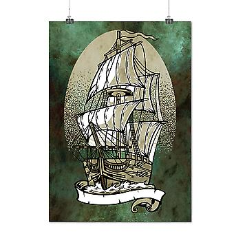 Matte or Glossy Poster with Ship Old Sail Sea Fantasy | Wellcoda | *d2773
