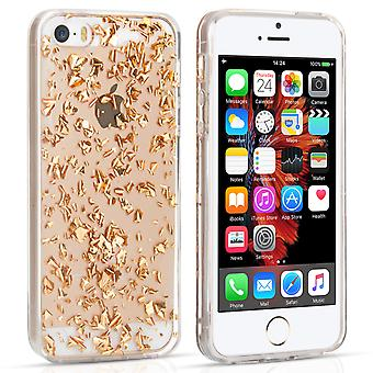iPhone 5 And 5s / SE Tinfoil Soft Case - Gold