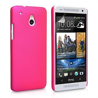 Yousave tilbehør HTC en Mini hårdt Hybrid sag - Hot Pink