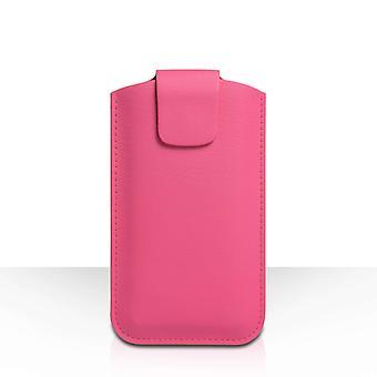 YouSave Lichee PU funda de cuero (L) - color de rosa caliente