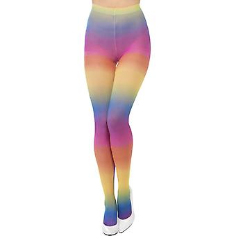 Leggings neon rainbow tights 80s 90s neon night
