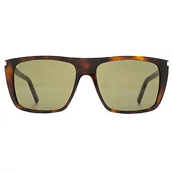 Saint Laurent SL 156 Sunglasses In Havana Green