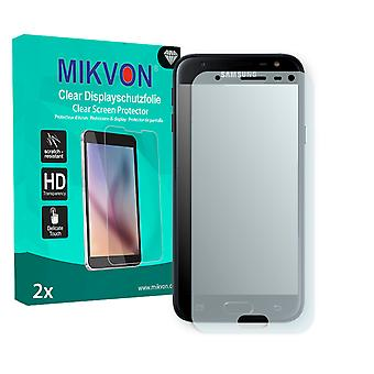 Samsung Galaxy J3 (2017) Screen Protector - Mikvon Clear (Retail Package with accessories) (intentionally smaller than the display due to its curved surface)
