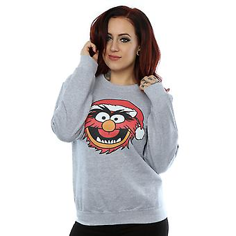Disney Women's The Muppets Animal Christmas Sweatshirt