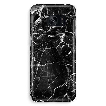 Samsung S7 Edge Full Print Case - Black Marble 2