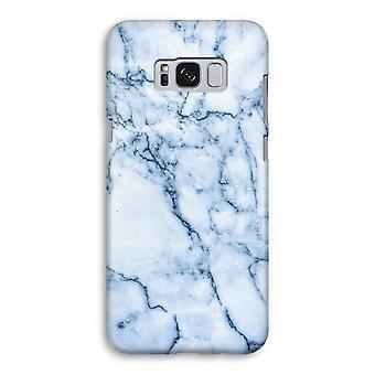 Samsung Galaxy S8 Full ut fallet - blå marmor
