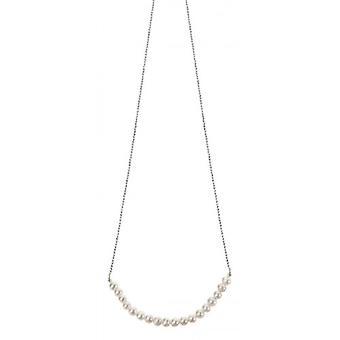 Elements Silver Freshwater Pearl Necklace - Silver/White