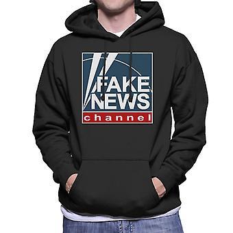 Fake-Nachrichtensender Fox News Logo Herren Sweatshirt mit Kapuze