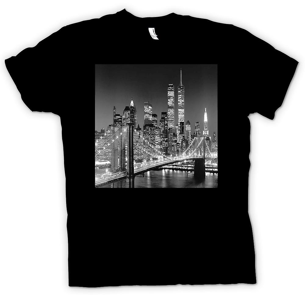 Womens T-shirt - New York Sky Line - Twin Towers