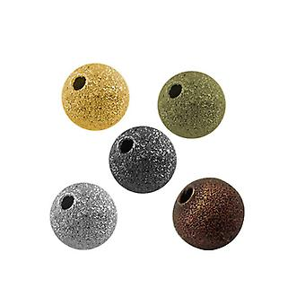 Packet 50 x Mixed Brass 8mm Round Spacer Beads HA01891