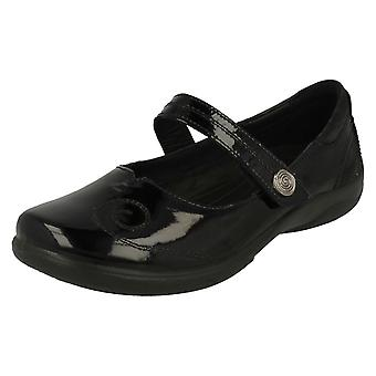 Ladies Padders Dual Fitting Mary Jane Styled Shoes Lyric - Black Patent - UK Size 6.5 2E/3E - EU Size 40.5 - US Size 8.5