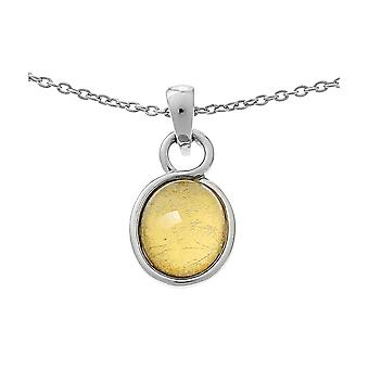 Orphelia Silver 925 Chain With Pendant Oval Gold Sheet   ZH-6040/2