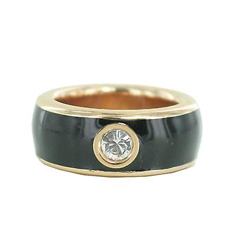 ESPRIT women's ring stainless steel Rosé Fancy black ESRG12194F1