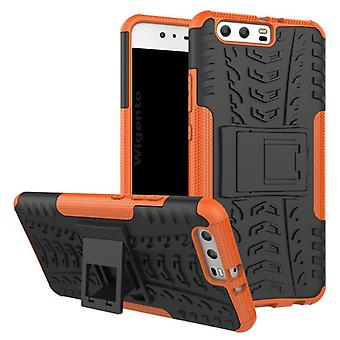 NEX style hybrid case 2 piece SWL outdoor Orange for Huawei P10 plus bag case cover protection
