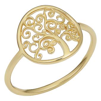 14k Yellow Gold Tree Of Life Ring