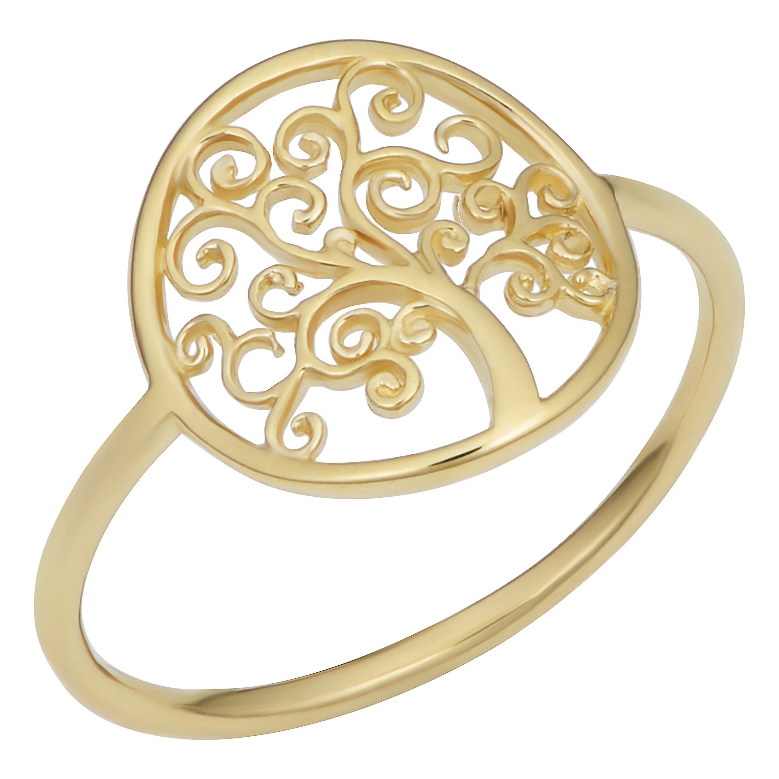 14 k or jaune Tree Of Life Ring