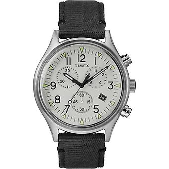 Timex mens watch MK1 Steel Chronograph 42 mm fabric bracelet TW2R68800